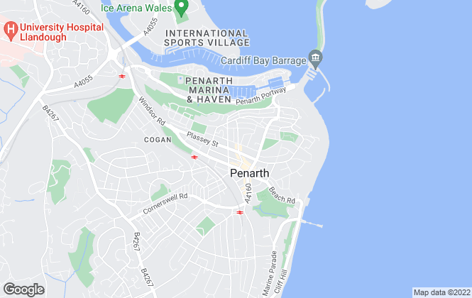 Map for Peter Wood, Penarth