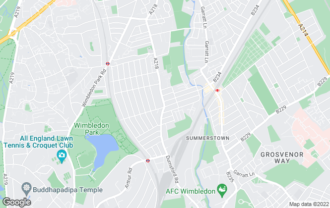 Map for Seymour Green , Southfields