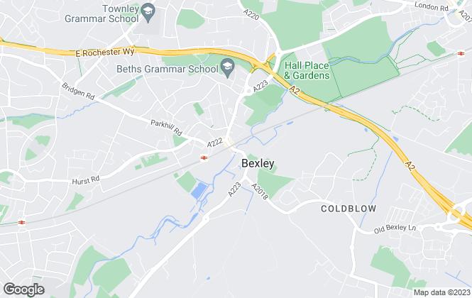 Map for Robinson Jackson, Bexley