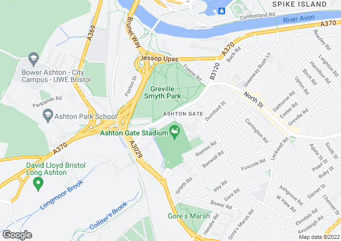 Map for Ashton Road, Ashton, Bristol