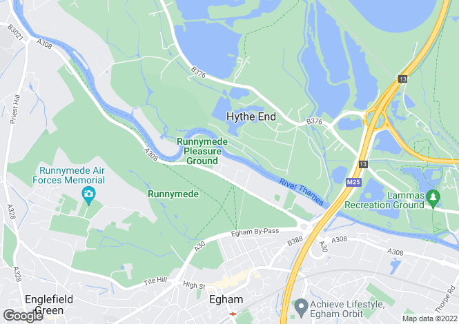 Map for Egham Riverside