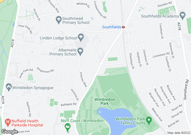 Map for Wimbledon park road