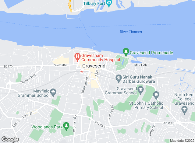 Map for Chivers, Gravesend
