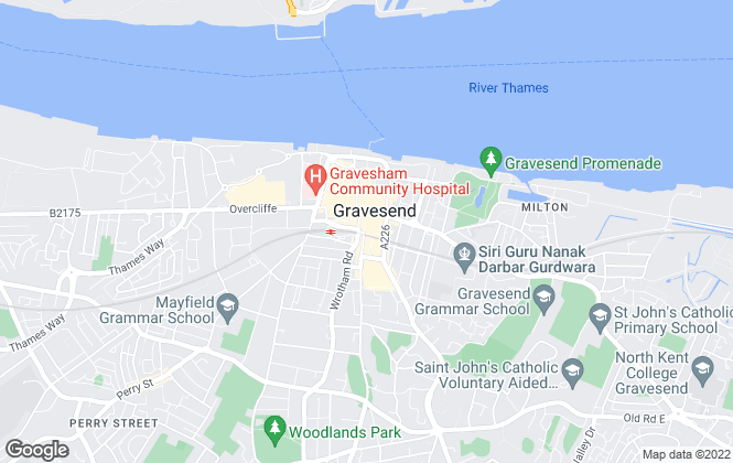 Map for Mann Lettings, Gravesend