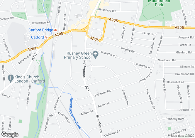 Map for 1, Penerley Road, Catford, SE6