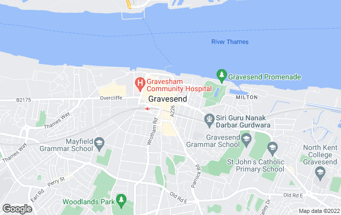 Map for Miles & Barr, Gravesend