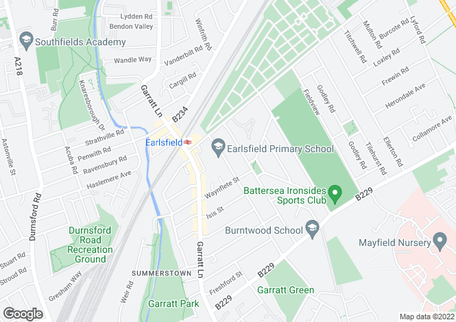 Map for Tranmere Road, Earlsfield, SW18