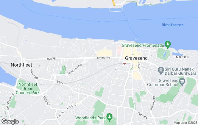 Map for Dimora Lettings, Gravesend