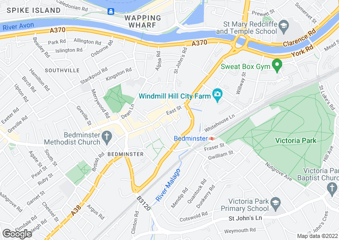 Map for Bedminster, BRISTOL