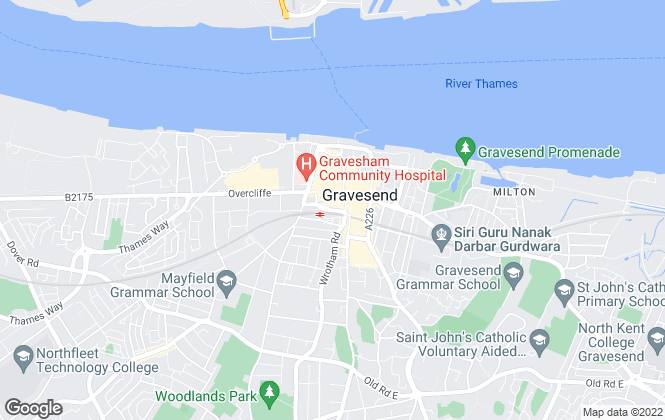 Map for Sealeys Estate Agents, Gravesend