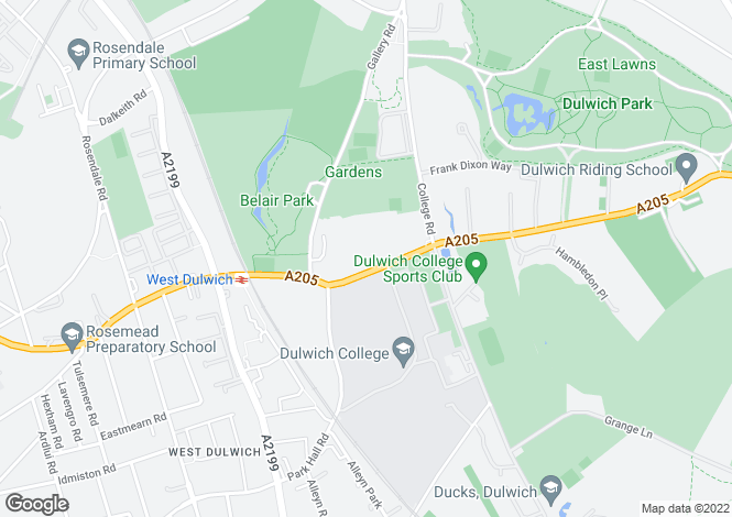 Map for Northcroft, Dulwich, London SE21