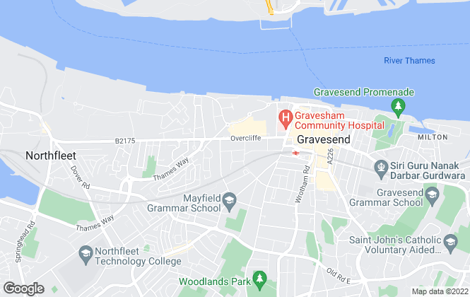 Map for Dimora Lettings, Gravesend