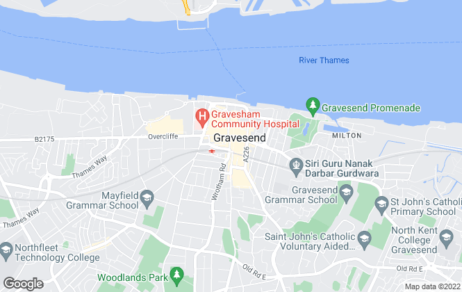 Map for The Property Shop, Gravesend