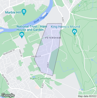 Map of property in Petersham