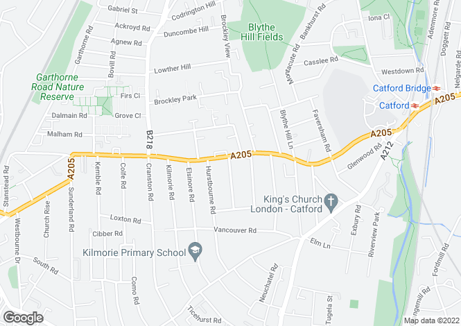 Map for Stanstead Road SE23