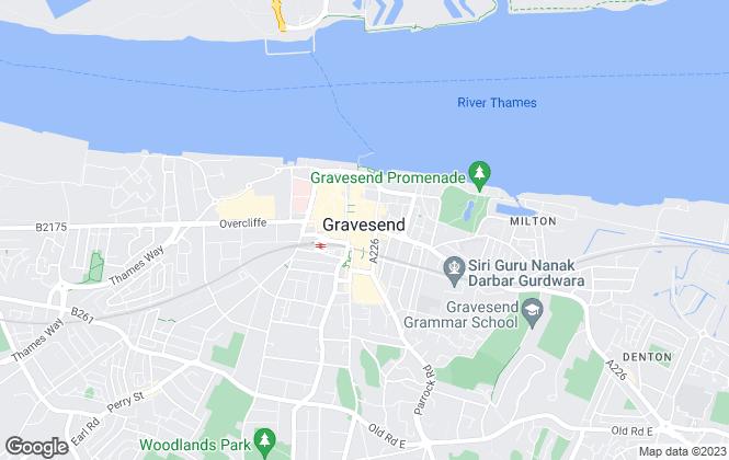 Map for Pro-Estates, Gravesend