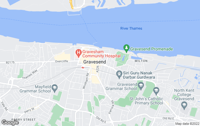 Map for 2-Move, Gravesend - Lettings