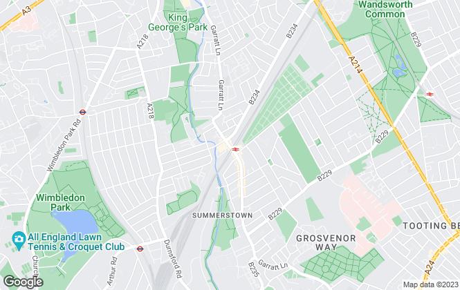 Map for Kinleigh Folkard & Hayward - Sales, Earlsfield