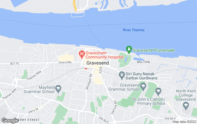 Map for Robinson Michael & Jackson, Gravesend and Northfleet - Lettings