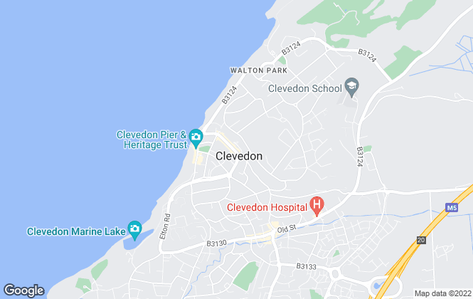 Map for Woods Estate Agents, Clevedon