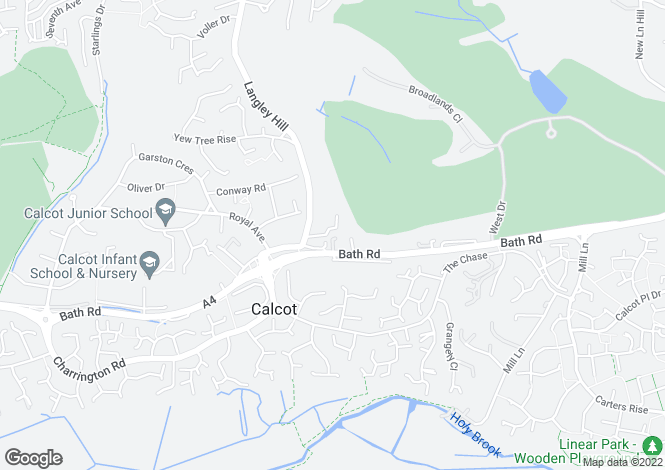 Map for Langley Hall Drive, Calcot, Reading