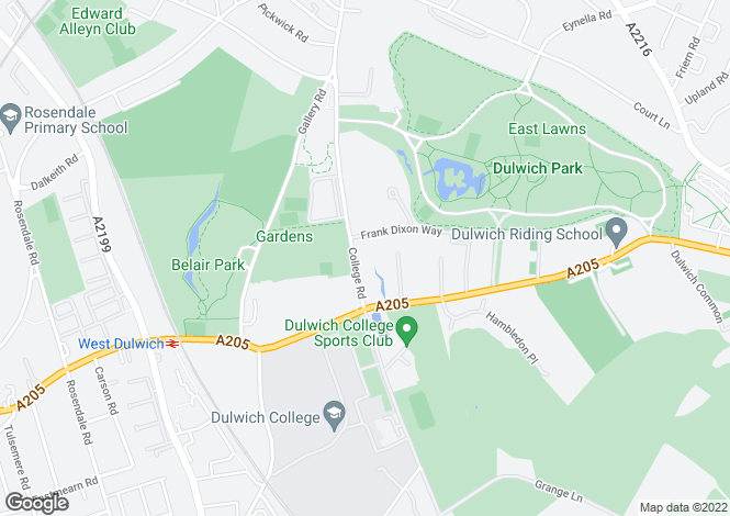 Map for College Road, Dulwich, London