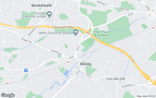 Map for Anthony Martin Estate Agents, Bexley