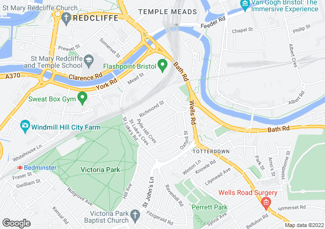 Map for Hill Street,  Totterdown