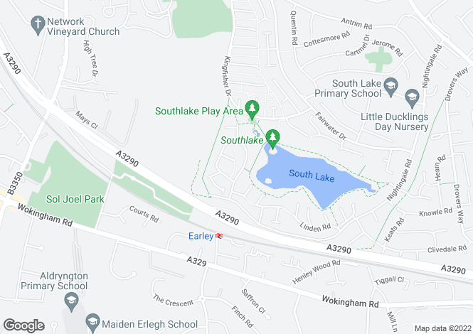 Map for Hazel Drive, Woodley, Reading