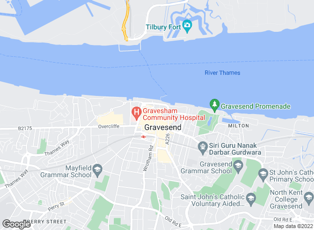 Map for Accommodate, Gravesend