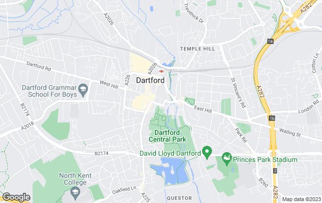 Map for Hunters, Dartford