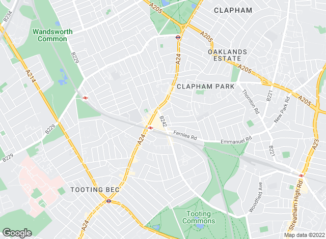 Map for Samuel Estates, Balham Sales