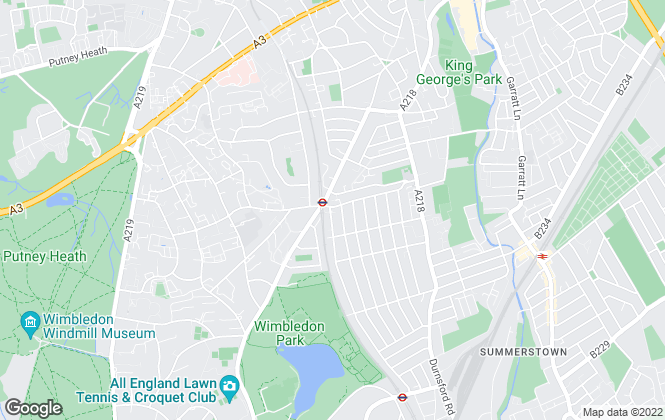 Map for Andrews Estate Agents, Southfields
