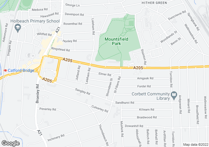 Map for Elmer Road Catford SE6