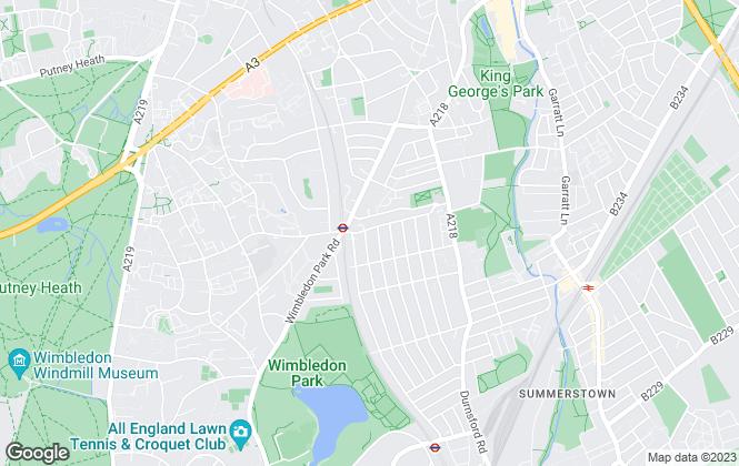 Map for Douglas & Gordon, Southfields & Earlsfield