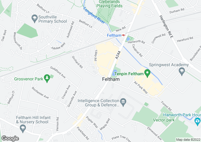 Map for Berberis House Highfield Road, Feltham TW13