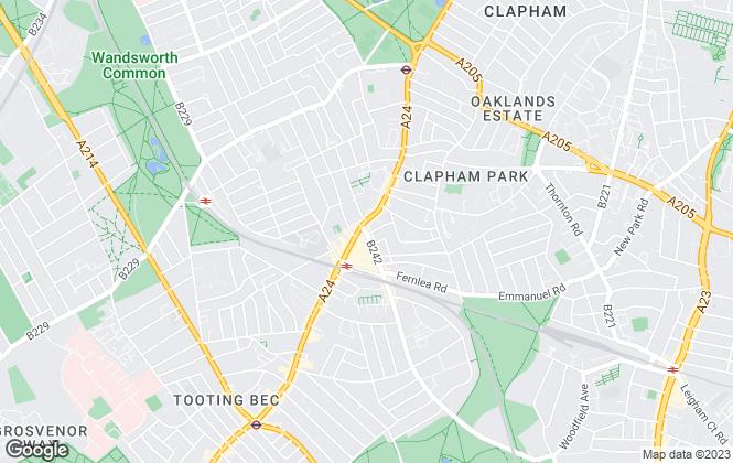 Map for Hamptons International Sales, Balham