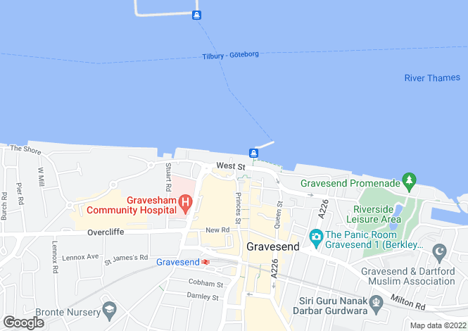 Map for West Street, Gravesend, Kent