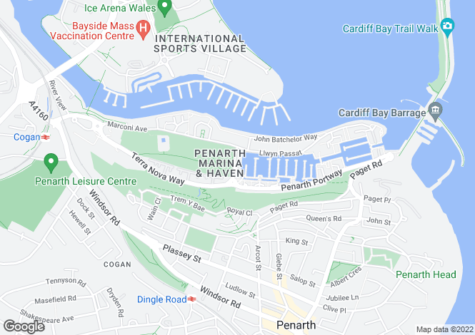 Map for Penarth Portway, Penarth, CF64