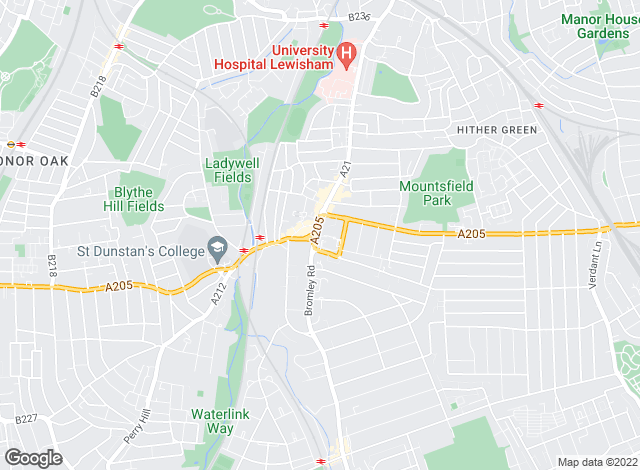 Map for Crown Property Professionals, Catford