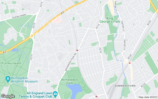 Map for Winkworth, Southfields