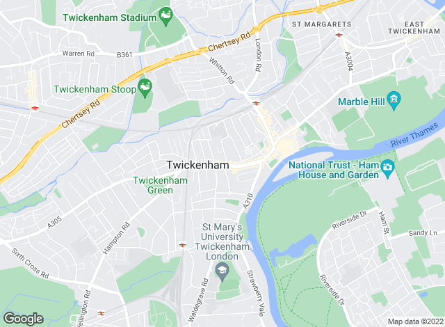 Map for Dexters, Twickenham