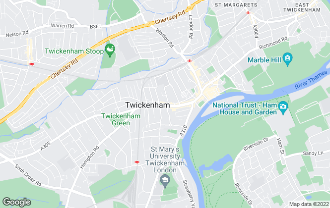 Map for Snellers, Twickenham