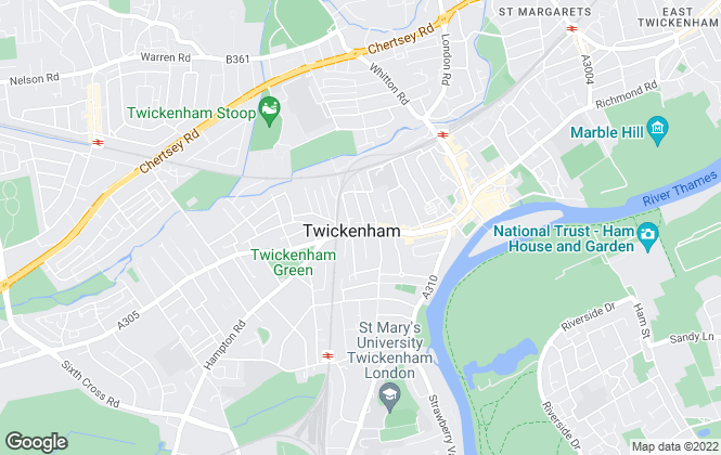 Map for Websters Estate Agents, Twickenham