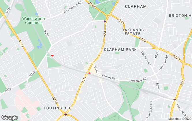 Map for Jacksons Estate Agents, Balham