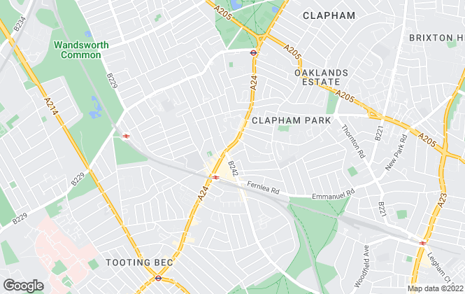 Map for Foxtons, Balham