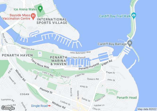 Map for Llwyn Passatt, Panarth Marina,