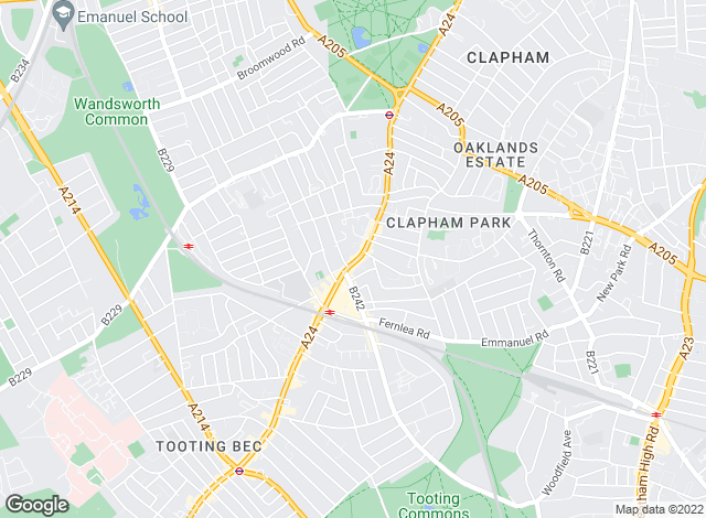 Map for Morgan Randall, Balham