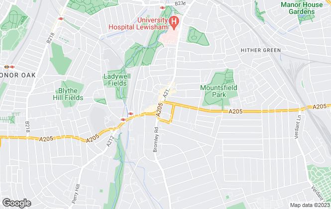 Map for Northwood, Lewisham