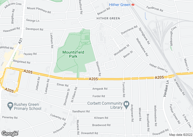Map for Stainton Road, Catford, London, SE6